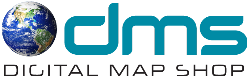 Digital Map Shop Logo